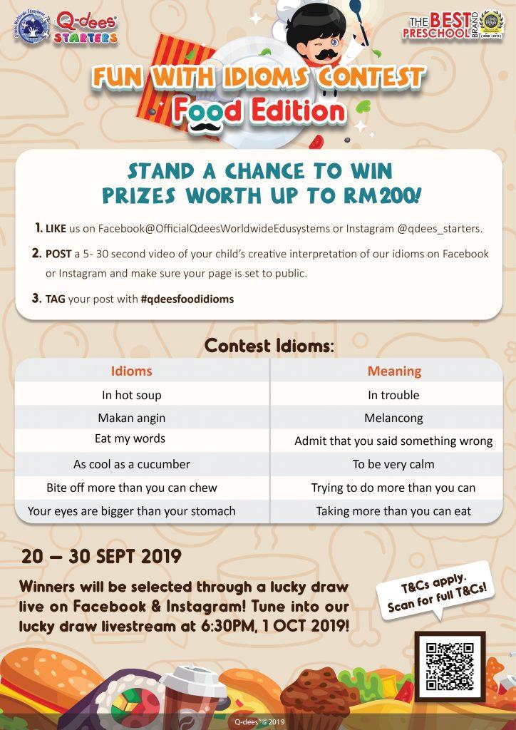 Idiom Contest - Poster