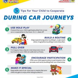 5 Tips for Your Child to Cooperate During Car Journeys