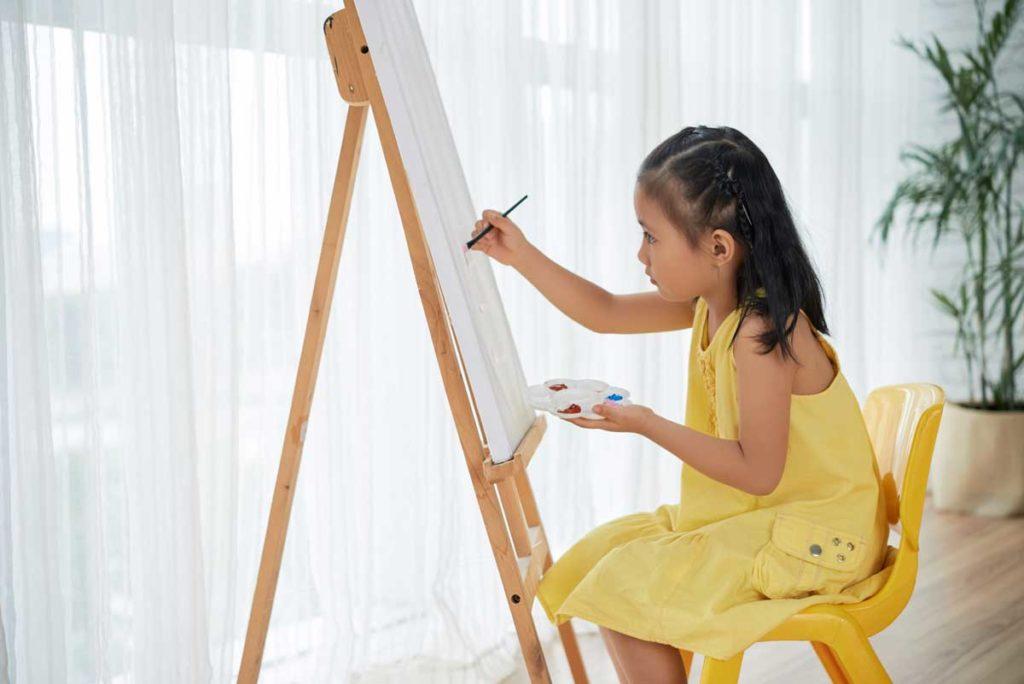 Child expressing her creativity